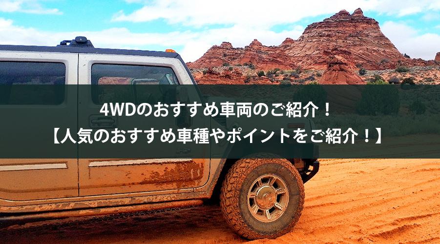 4WDのおすすめ車両のご紹介!【人気のおすすめ車種やポイントをご紹介!】